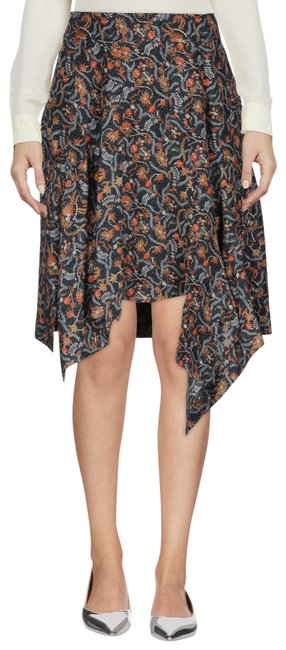Item - Blue Floral Asymmetric Skirt Size 8 (M, 29, 30)