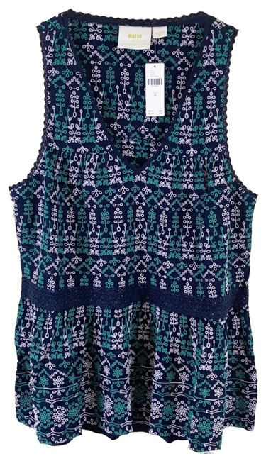 Item - Green Cammie Embroidered Peplum Tank Top/Cami Size 10 (M)