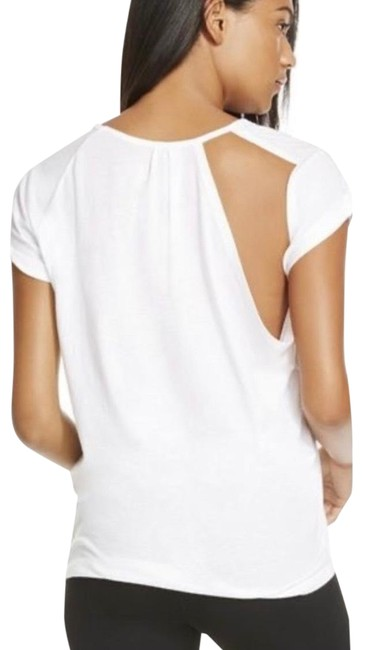 Item - White Tab Cut Out Back Tee Shirt Size 4 (S)