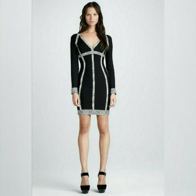 Item - Black/Silver Aaliyah Short Casual Dress Size 0 (XS)