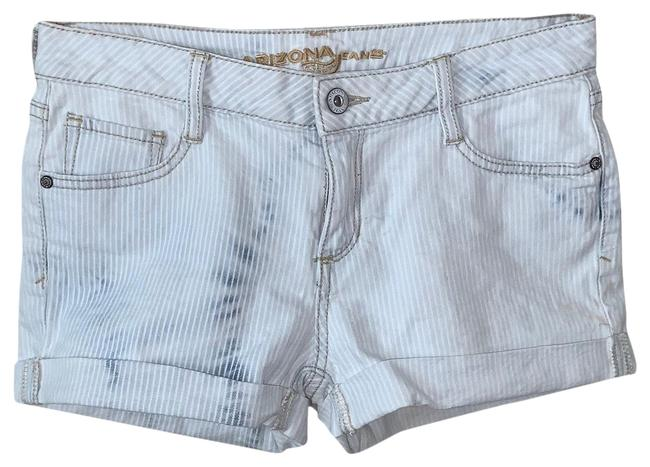 Item - Blue and White Acid Light Wash Shorts Skinny Jeans Size Petite 6 (S)