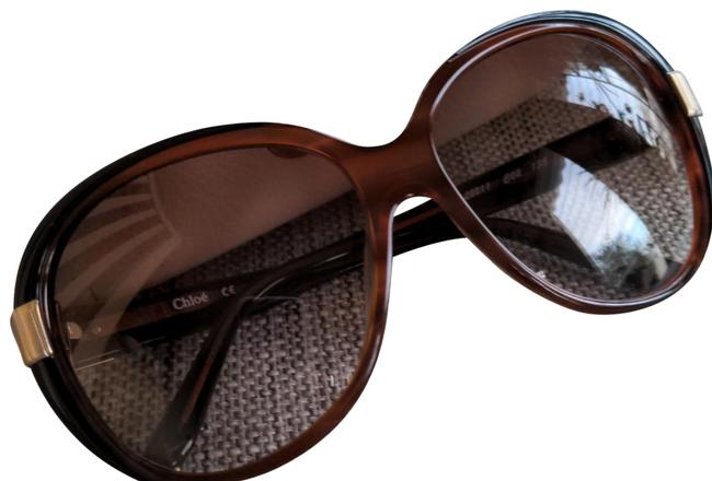 Item - Brown Oversized Round Cl2211 Sunglasses