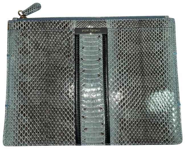 Item - Teal Snakeskin Cosmetic Bag