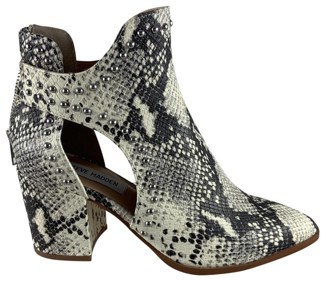 Item - White Snakeskin Cut Out Boots/Booties Size US 6.5 Regular (M, B)