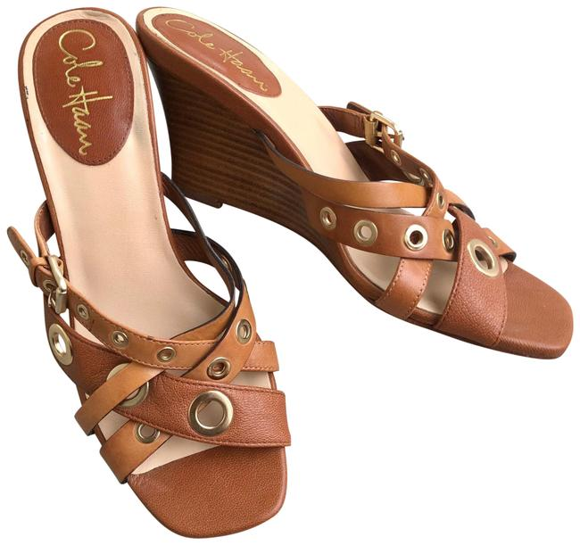 Item - Brown Strappy Leather Wedges Sandals Size US 6 Regular (M, B)
