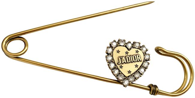 Item - Aged Gold J'adior Safety Pin Broach (New)