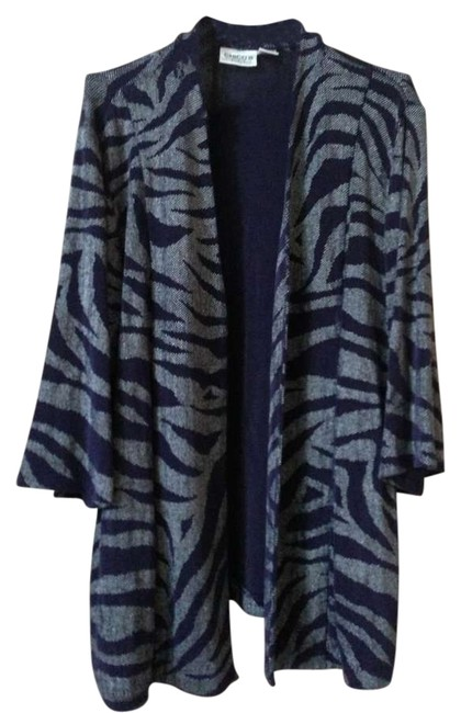 Chico's Navy Blue Silver Jacket
