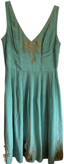 Item - Robin's Egg Blue Lil Silk Mid-length Night Out Dress Size 8 (M)