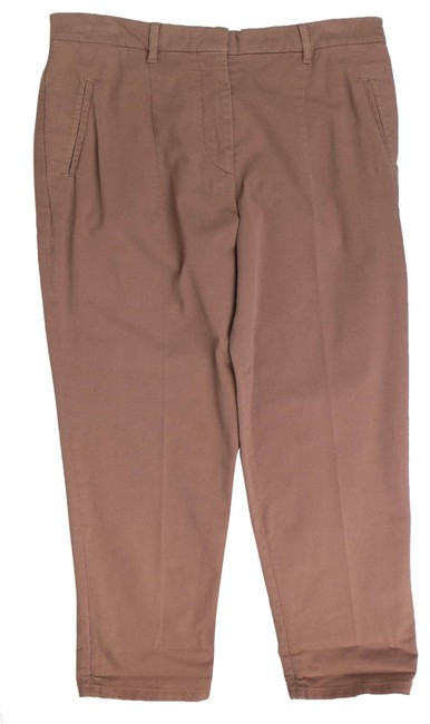 Item - Brown Cotton Blend Casual 6/4 Activewear Bottoms Size 6 (S, 28)