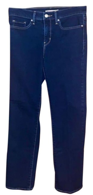 Item - Blue Dark Rinse 314 Shaping Straight Leg Jeans Size 28 (4, S)