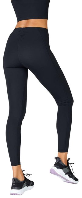 Item - Black High Waisted Ultra Luxe Ruffle Activewear Bottoms Size 6 (S, 28)