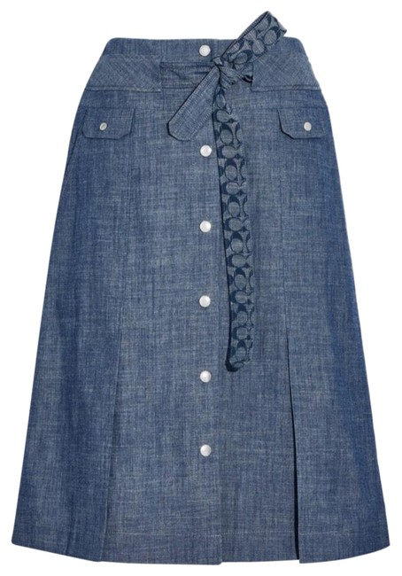 Item - Blue Chambray Skirt Size 6 (S, 28)