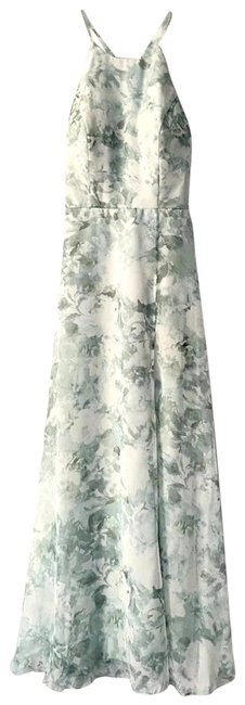 Item - Green Kayla A-line Halter Bridesmaid Gown Long Formal Dress Size 2 (XS)