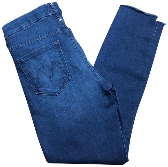 Item - Blue Dark Rinse High Waisted Looker Ankle Fray Skinny Jeans Size 8 (M, 29, 30)
