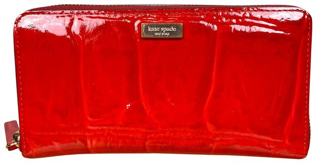 Item - Red Knightsbridge Patent Leather Neda Wallet