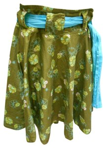 Skunkfunk Petri 4 Funkin' Out Skirt Olive with multi-colors