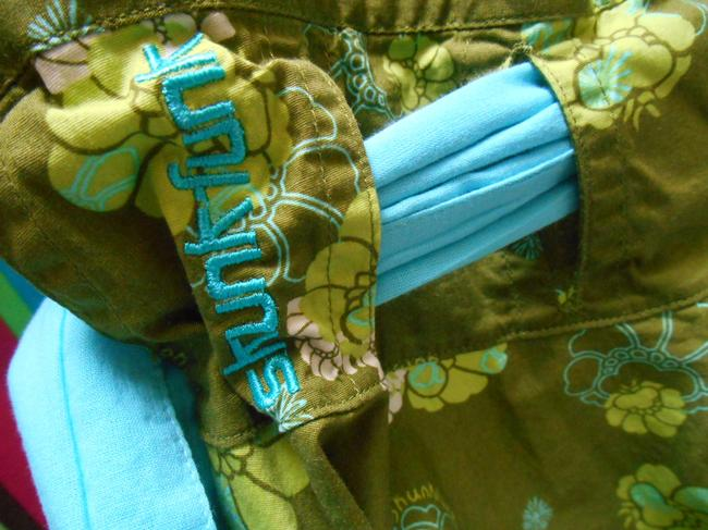 Skunkfunk Petri 4 Funkin' Out Beach Surf Vintage Aqua Turquoise Funky Fun Lace Belt Tie Belt Colorful Unique European A-line 8 Skirt Olive with multi-colors Image 1