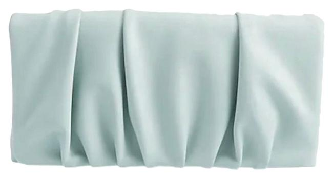 Item - Ruched Vegan Green Leather Clutch