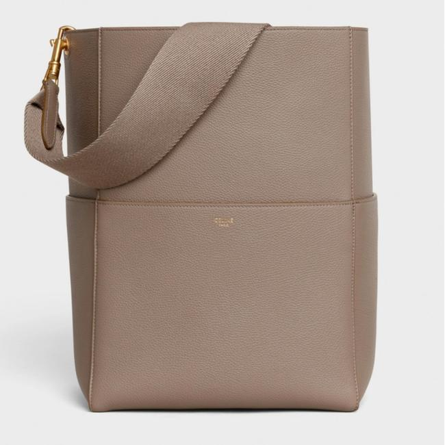 Item - Sangle Taupe Soft Grained Calfskin Leather Shoulder Bag