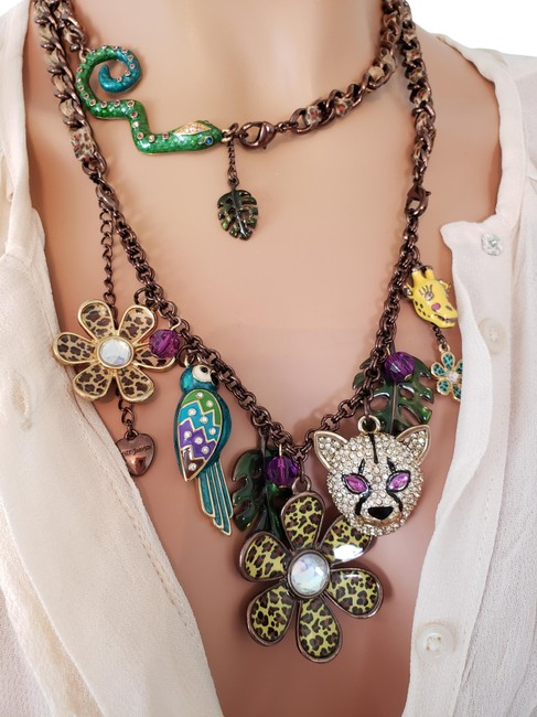 Item - Copper Vintage Jungle Fever Hard To Find Long Ribbon Chain. Necklace