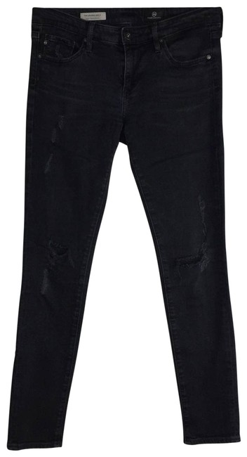 Item - Black Distressed Skinny Jeans Size 27 (4, S)