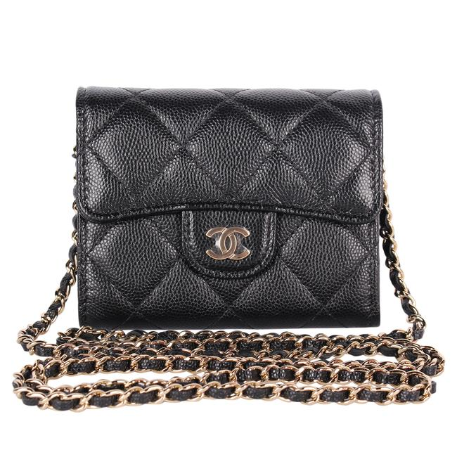 Item - Timeless Wallet on Chain 9574 Gold Leather Cross Body Bag