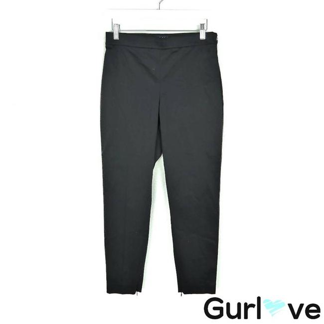 Theory Black Ankle Zip Trouser Pants Activewear Bottoms Size 4 (S, 27) Theory Black Ankle Zip Trouser Pants Activewear Bottoms Size 4 (S, 27) Image 1