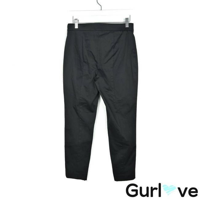Theory Black Ankle Zip Trouser Pants Activewear Bottoms Size 4 (S, 27) Theory Black Ankle Zip Trouser Pants Activewear Bottoms Size 4 (S, 27) Image 2