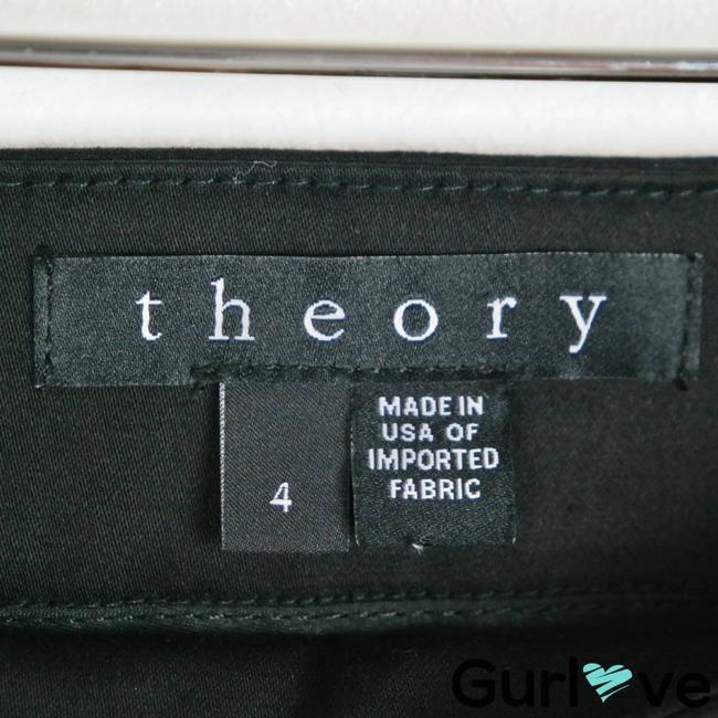 Theory Black Ankle Zip Trouser Pants Activewear Bottoms Size 4 (S, 27) Theory Black Ankle Zip Trouser Pants Activewear Bottoms Size 4 (S, 27) Image 3
