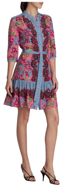 Item - Pink Tyra Berry Border Short Cocktail Dress Size 6 (S)