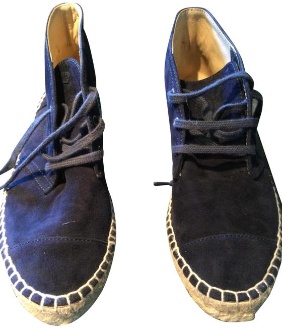 Item - Blue Espadrille Suede Boots/Booties Size EU 37 (Approx. US 7) Regular (M, B)