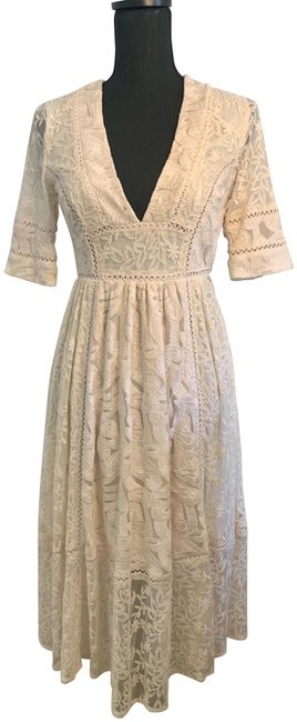 Free People Cream Mid-length Casual Maxi Dress Size 2 (XS) Free People Cream Mid-length Casual Maxi Dress Size 2 (XS) Image 1