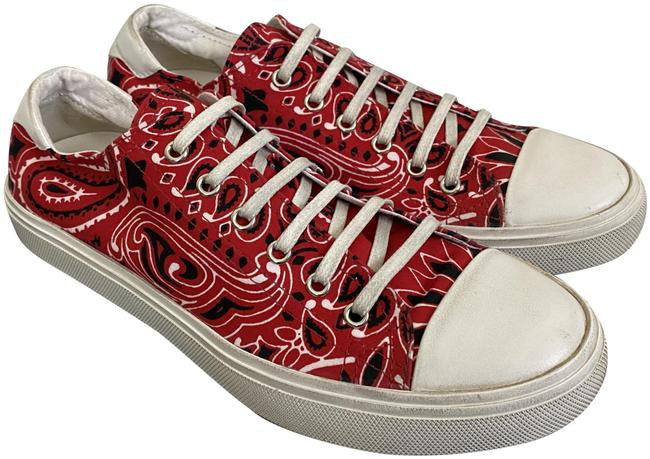 Item - Red Bedford Ysl Bandana Canvas Low Top Sneakers Size EU 39 (Approx. US 9) Regular (M, B)