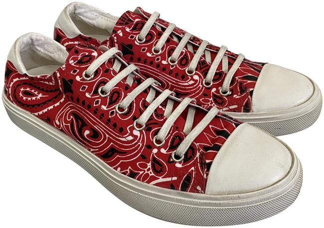 Item - Red Bedford Ysl Bandana Canvas Low Top Sneakers Size EU 38.5 (Approx. US 8.5) Regular (M, B)