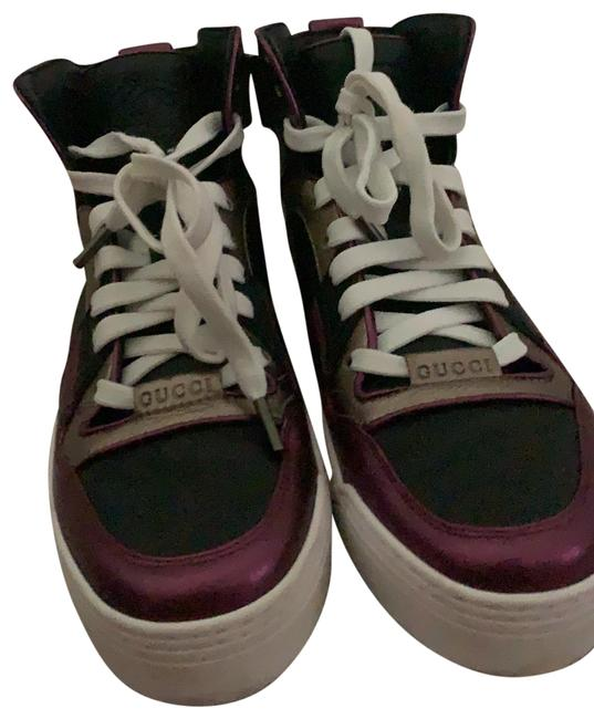 Item - Purple Black and Gold Sneakers Size EU 37 (Approx. US 7) Regular (M, B)