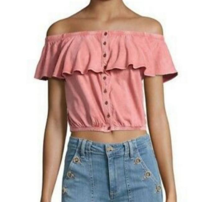 Item - Coral Button-down Top Size 4 (S)