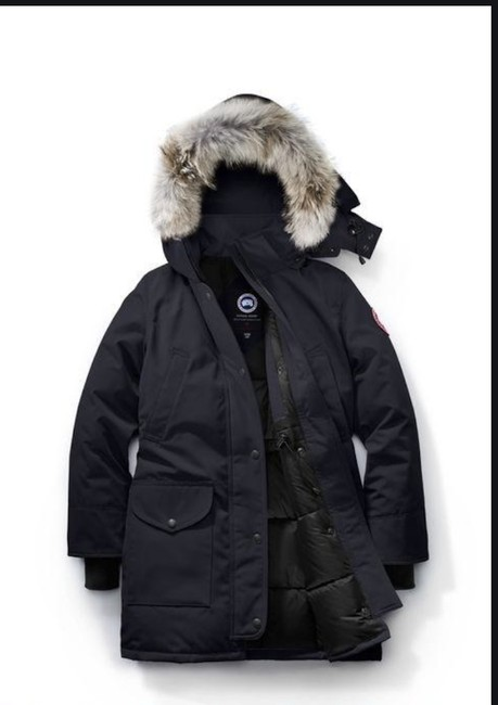 Item - Navy Blue Trillium Parka with Fur Hood Coat Size 0 (XS)