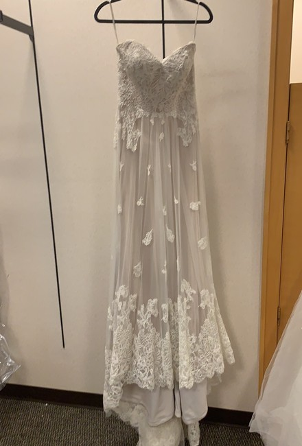 Item - Nude and Ivory Gown Destination Wedding Dress Size 6 (S)