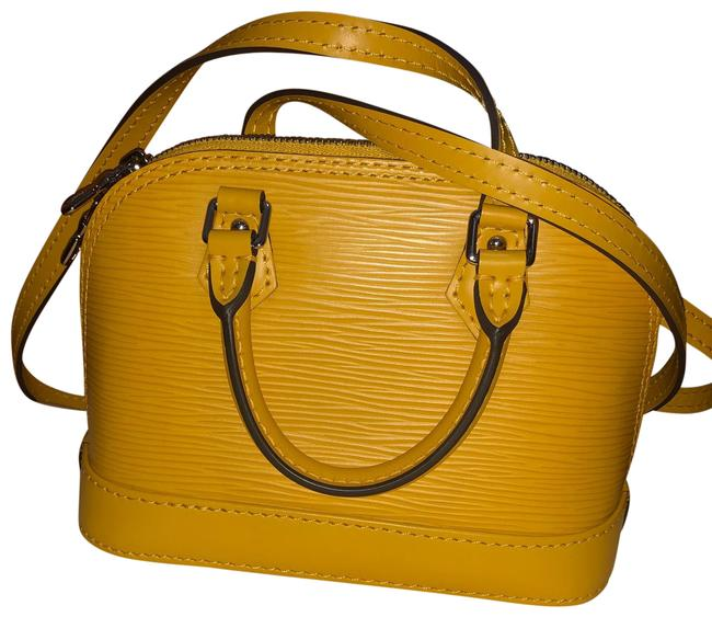 Item - Alma Epi Jonquille with Strap Yellow Leather Cross Body Bag