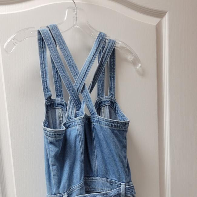 Item - Blue Medium Wash Jumpsuit Relaxed Fit Jeans Size 29 (6, M)