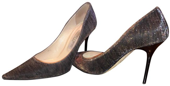 Item - Zebra Lame Glitter Black/Amber Pumps Size US 9 Regular (M, B)