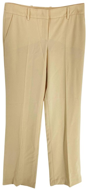 Item - Tan Silky Wide Leg Womens 38 Pants Size 8 (M, 29, 30)