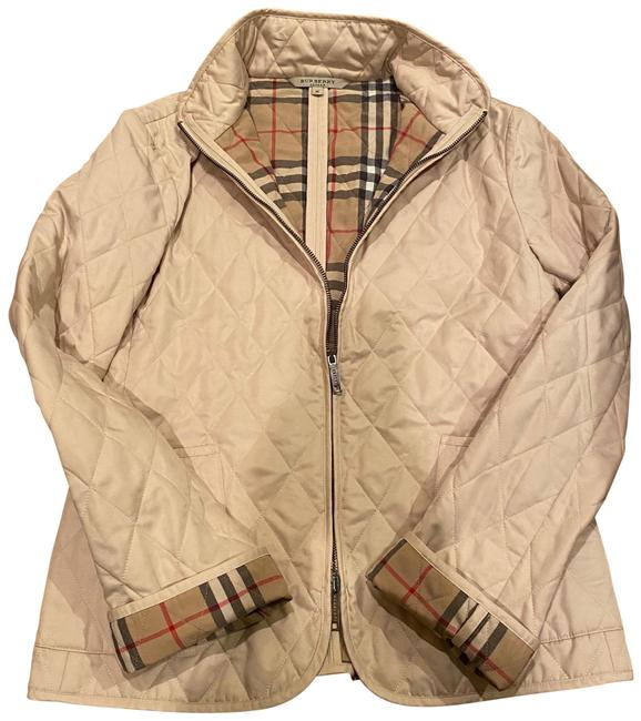 Item - Cream Quilted Zipper Jacket Size 8 (M)