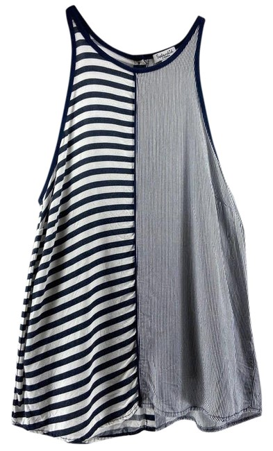Item - Blue XS Two Toned Stripped Tank Blouse Size 2 (XS)