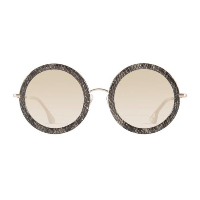 Item - Brown Gray Beverly Silver Snake Sunglasses