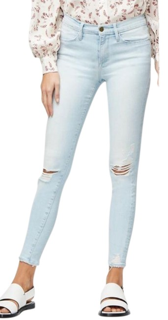 Item - Blue Light Wash Le High Distressed Skinny Jeans Size 25 (2, XS)