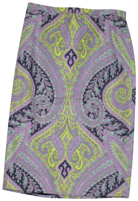Item - Multicolored Pencil Sovereign Paisley Cotton Skirt Size 2 (XS, 26)