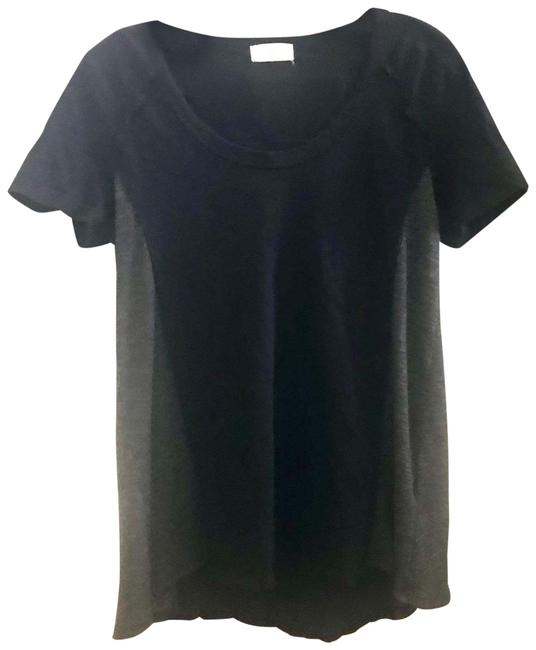 Item - Black and Grey Sleeve Tee Shirt Size 0 (XS)