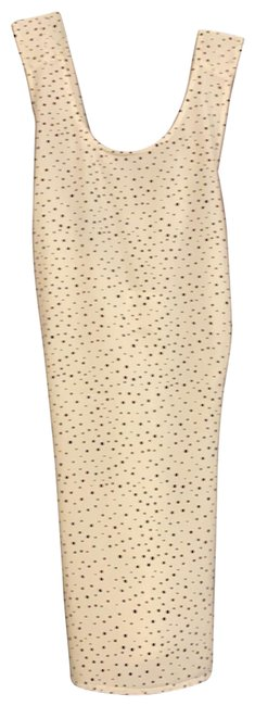 Item - Cream with Black Dots Crisscross Tank Blouse Size 8 (M)