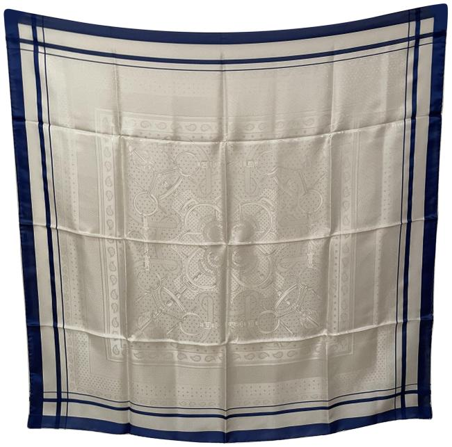 "Item - White """"Eperon D Or"""" Scarf/Wrap"